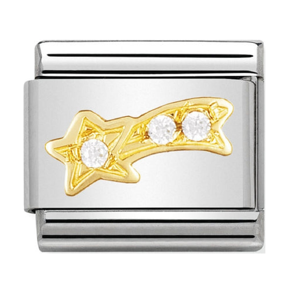 Nomination Charms 18ct and CZ Shooting Star