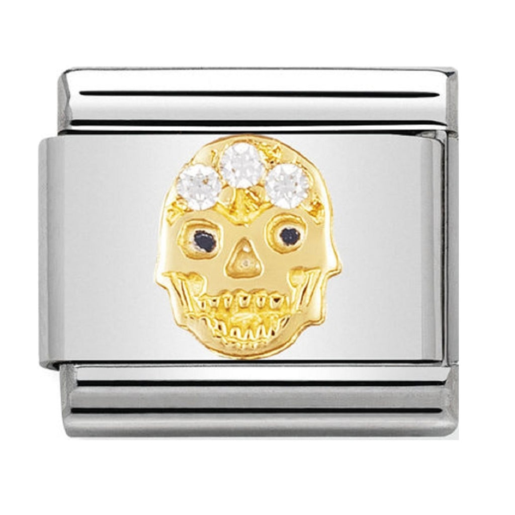 Nomination Charms 18ct and CZ Skull