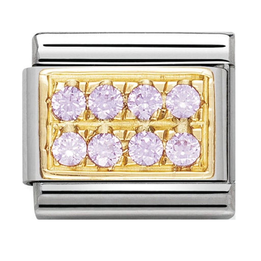Nomination Charms 18ct and Pink CZ Pave