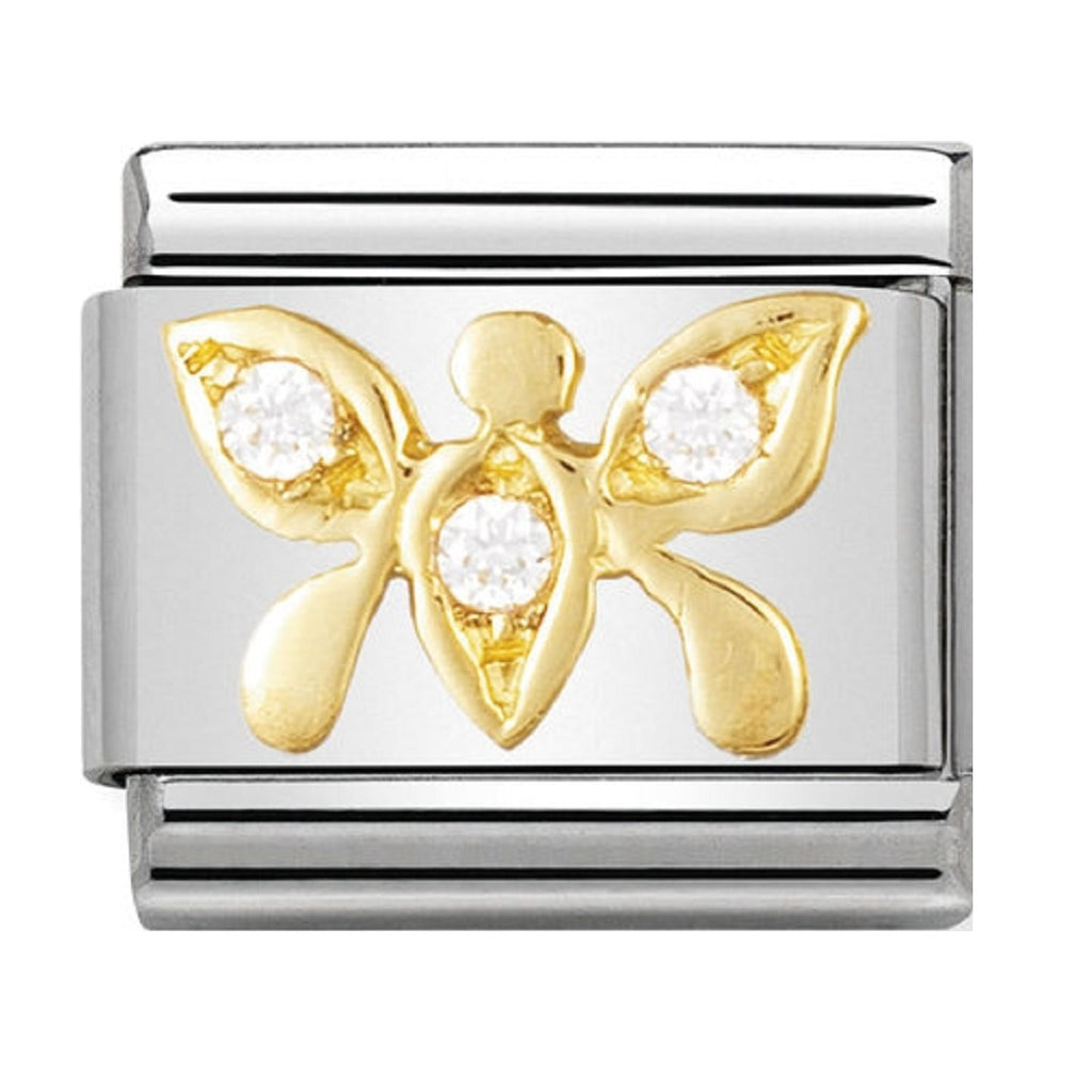 Nomination Charms 18ct and CZ Butterfly