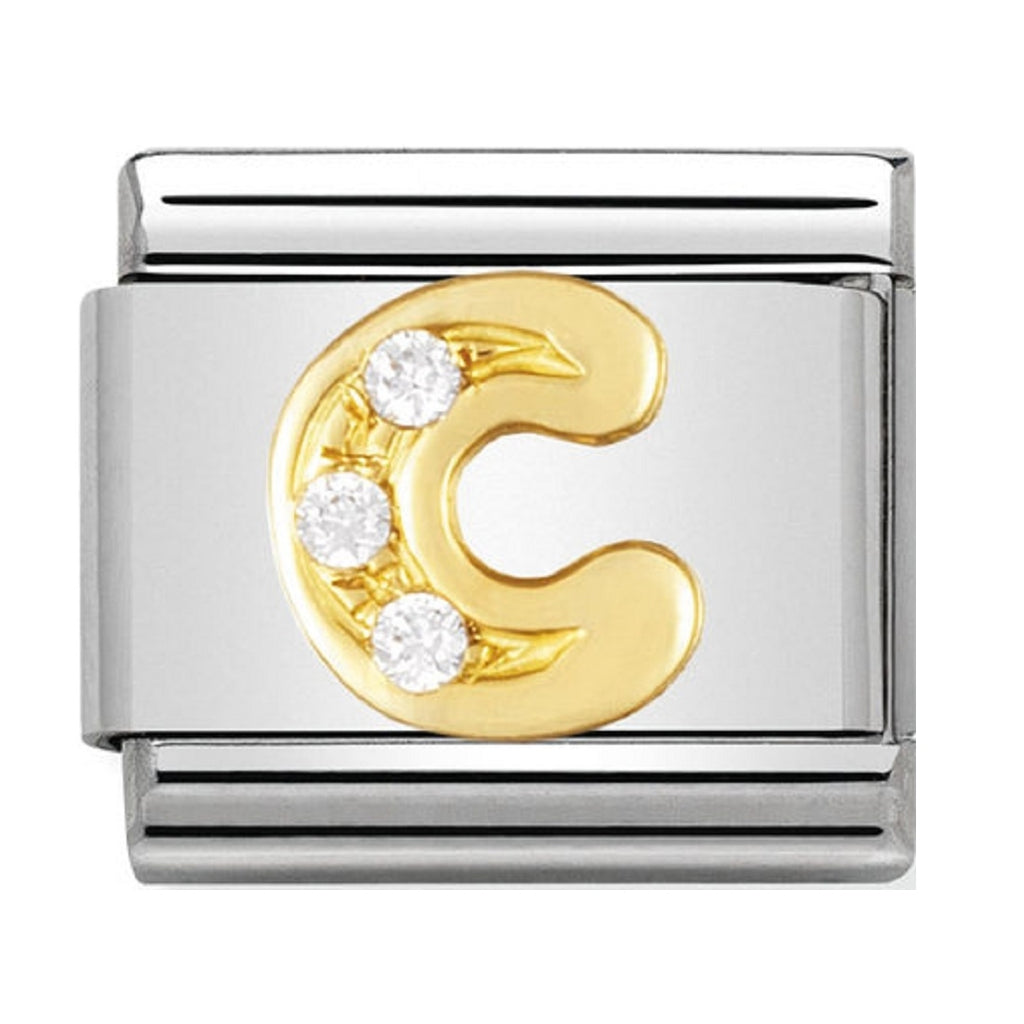 Nomination Charms 18ct and CZ Letter C