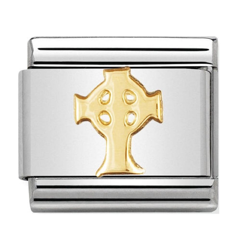 Nomination Charms 18ct Celtic Cross