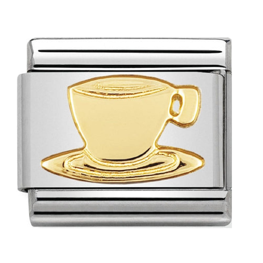 Nomination Charms 18ct Cup of Tea