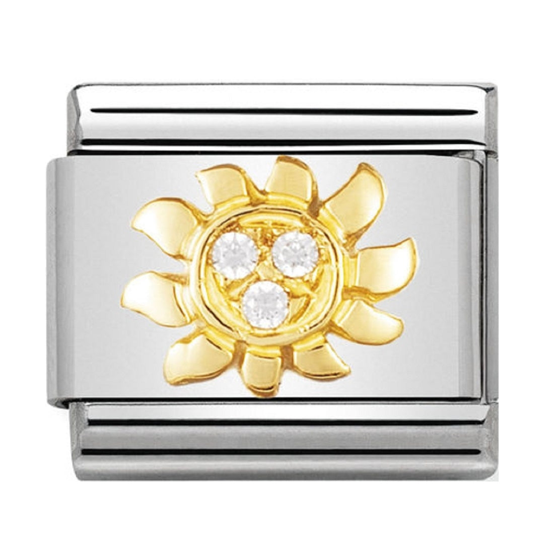 Nomination Charms 18ct Gold and CZ White Sun 030308-23. Nomination Charms  18ct Gold and CZ White Sun 030308-23 e9dbc23966fa