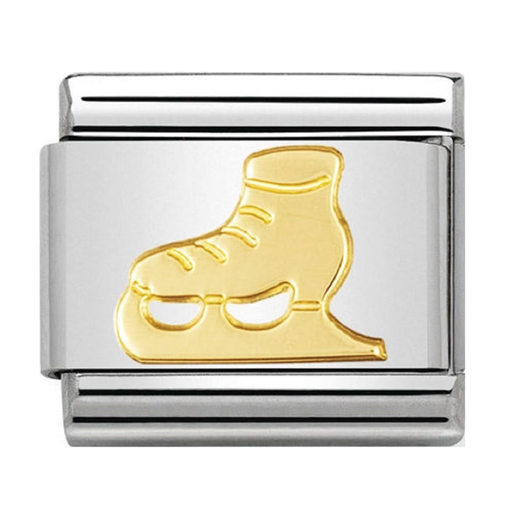 Nomination Charms 18ct Gold Ice skate