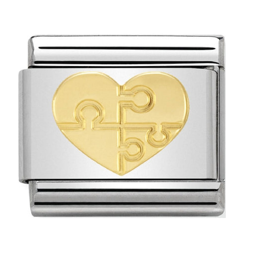 Nomination Charms 18ct Gold Puzzle Heart