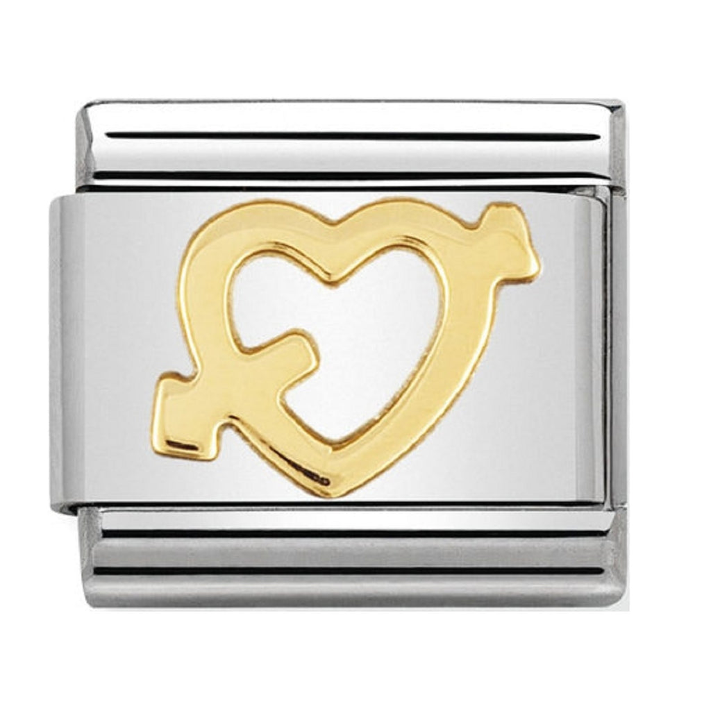 Nomination Charms 18ct Heart with arrow