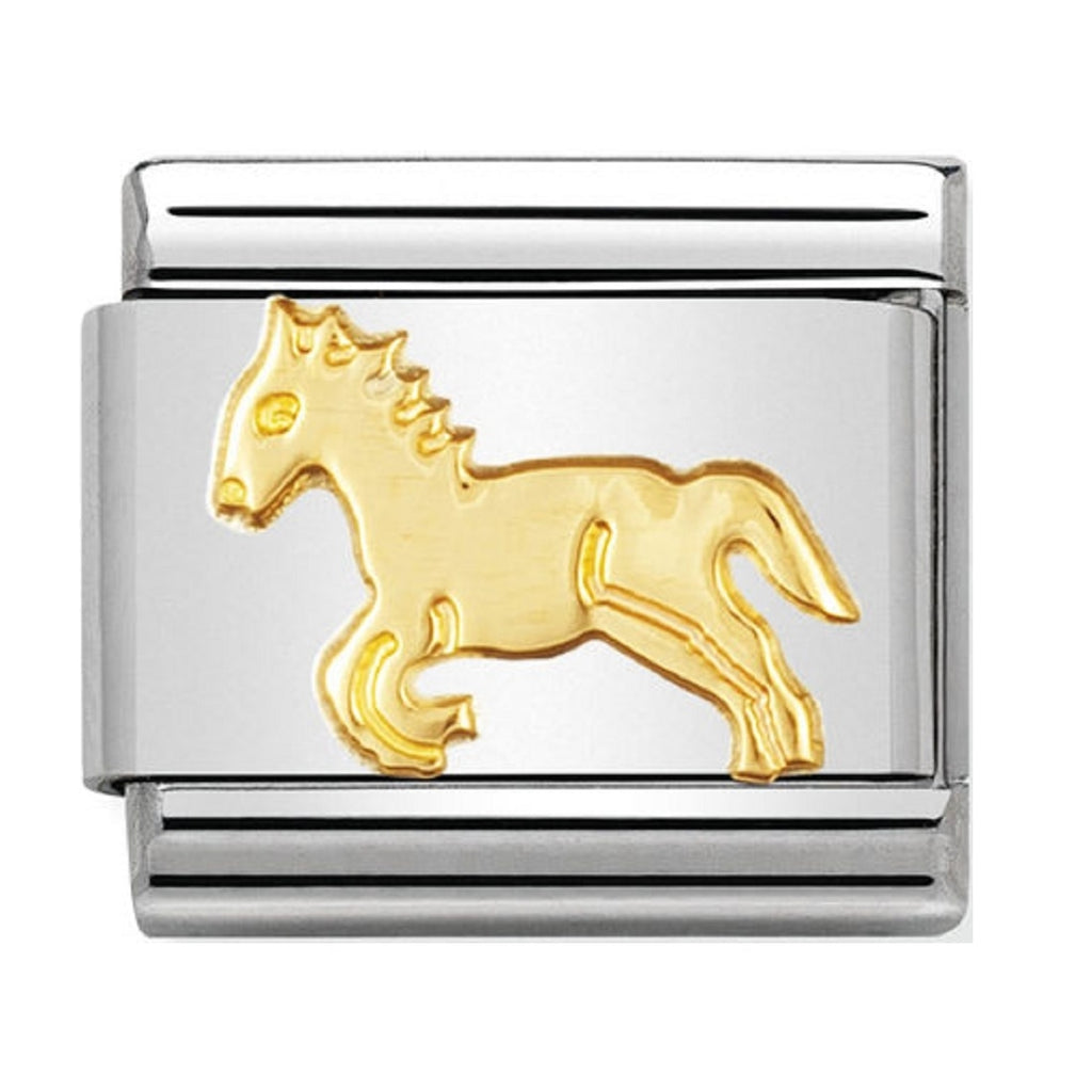 Nomination Charms 18ct Horse