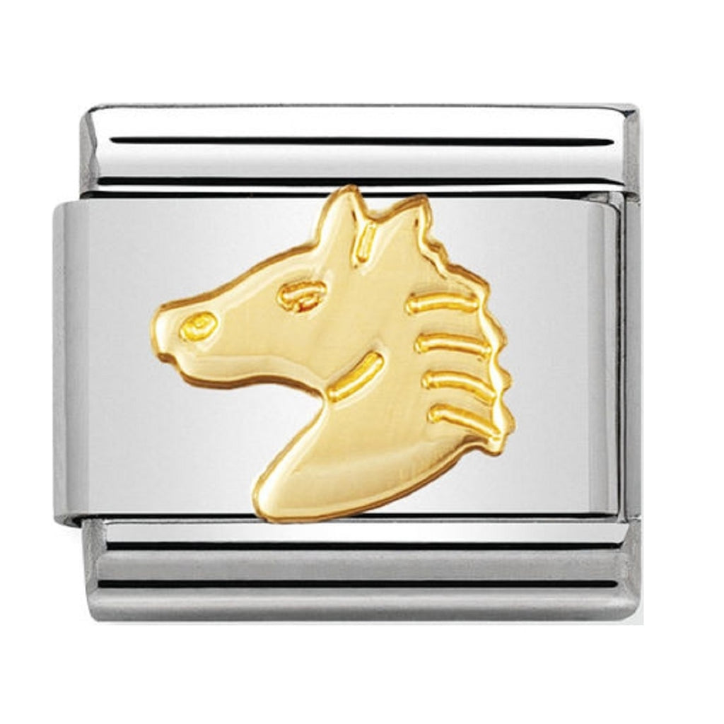 Nomination Charms 18ct Horse Head