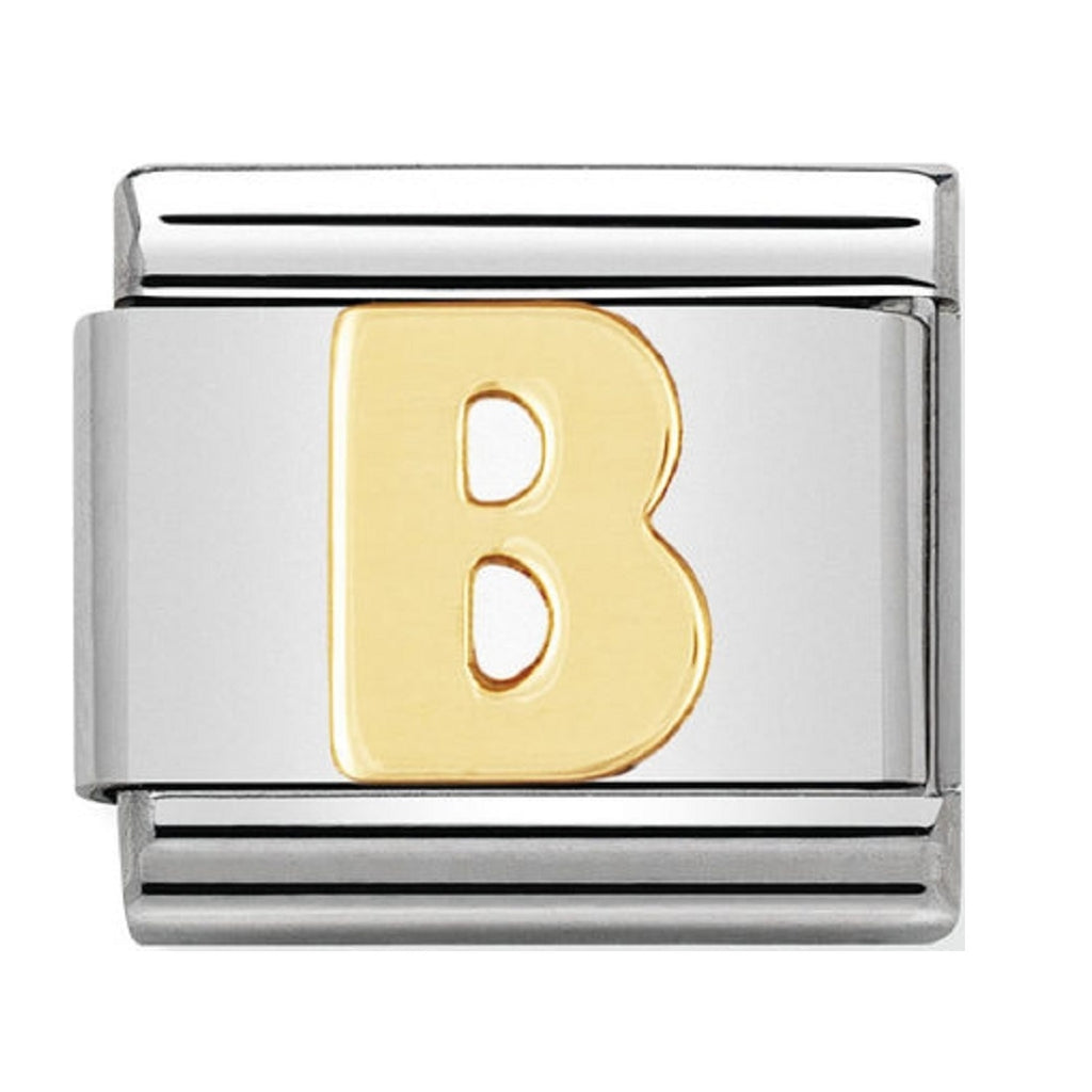 Nomination Charms 18ct Letter B