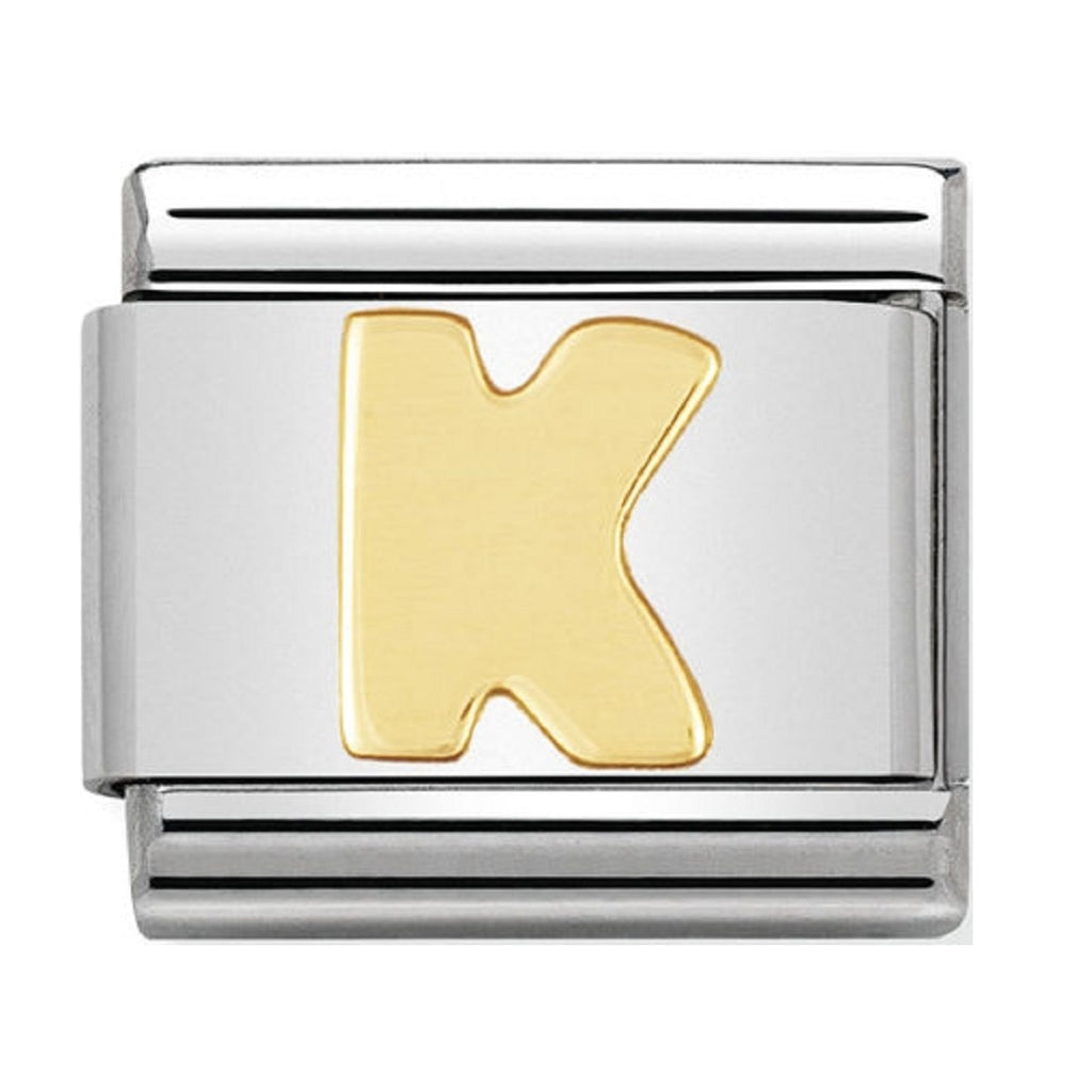 Nomination Charms 18ct Letter K