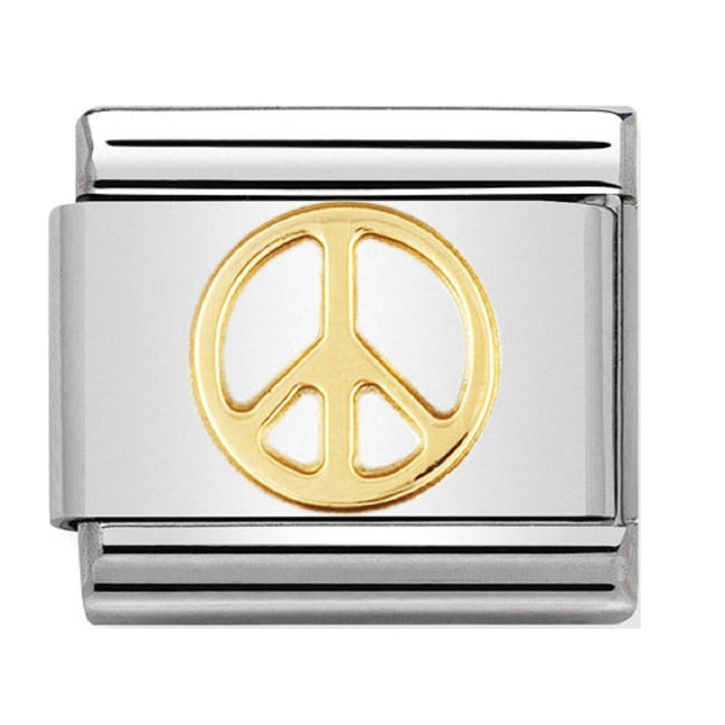 Nomination Charms 18ct Peace symbol