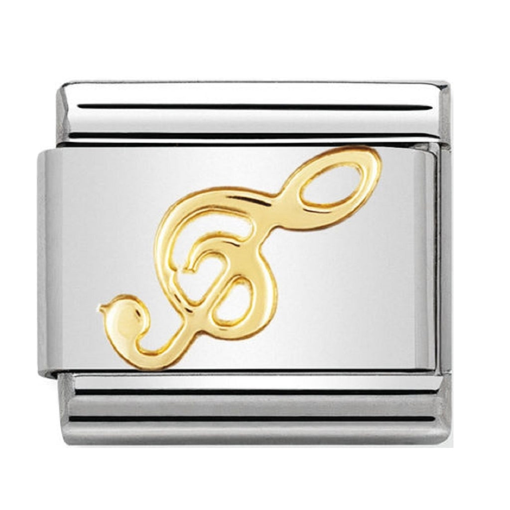 Nomination Charms 18ct Treble Clef