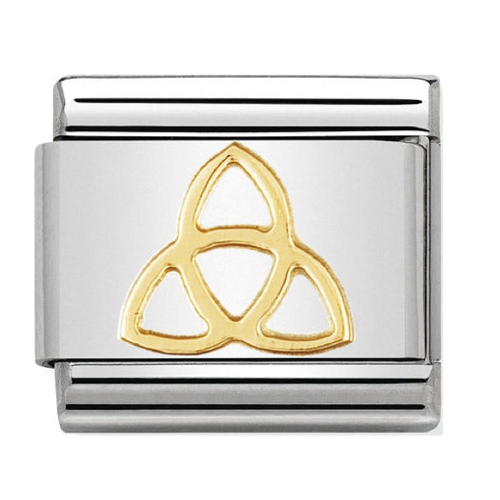 Nomination Charms 18ct Trinity Knot