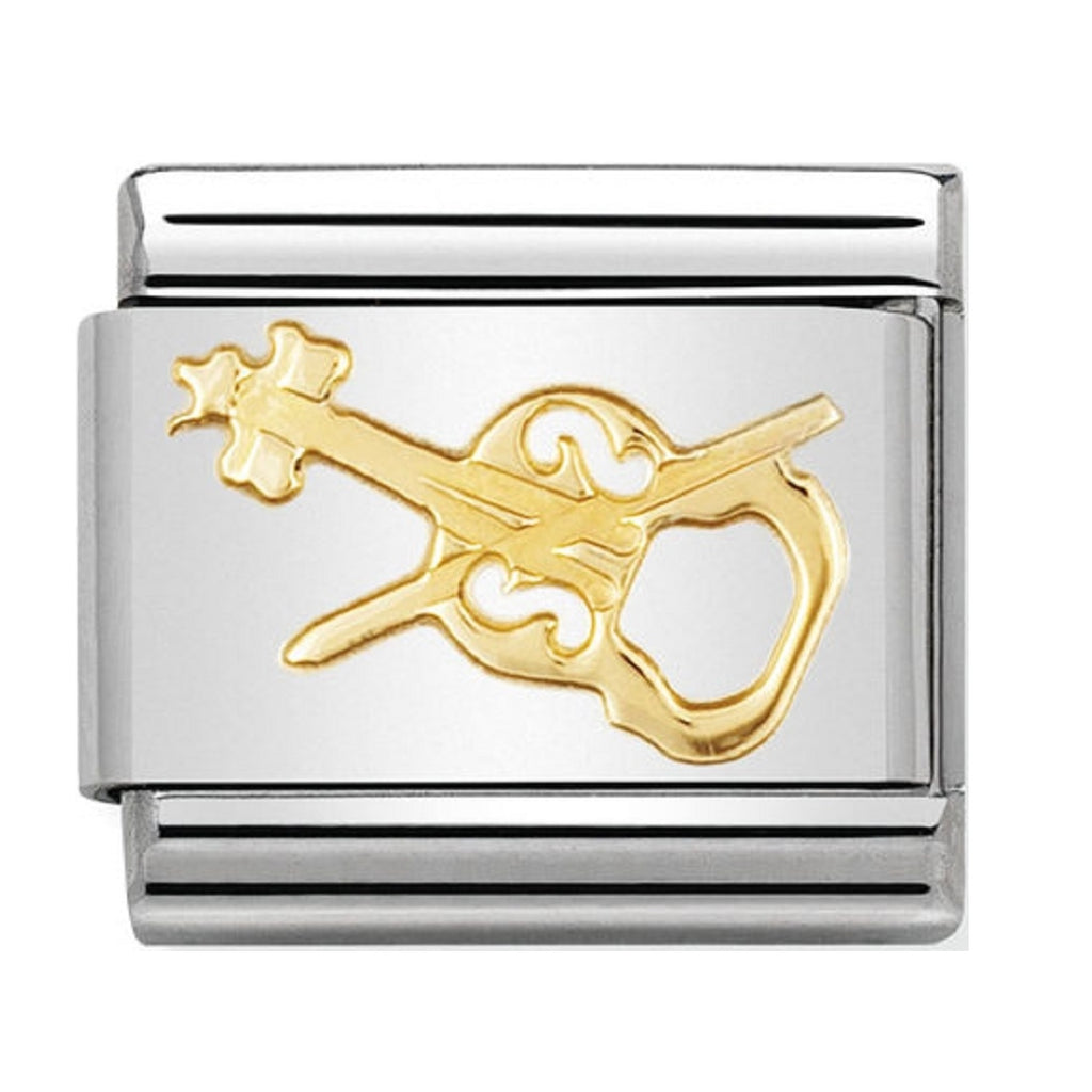 Nomination Charms 18ct Violin Classic Gold