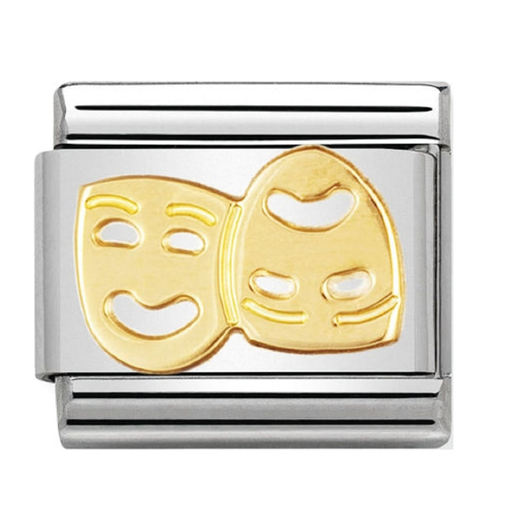 Nomination Charms Classic Gold 18ct Theatre Masks