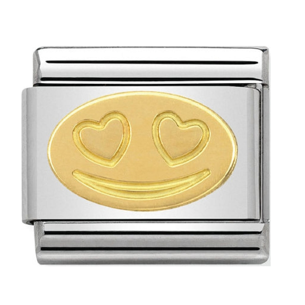 Nomination Charms In Love Smile Gold