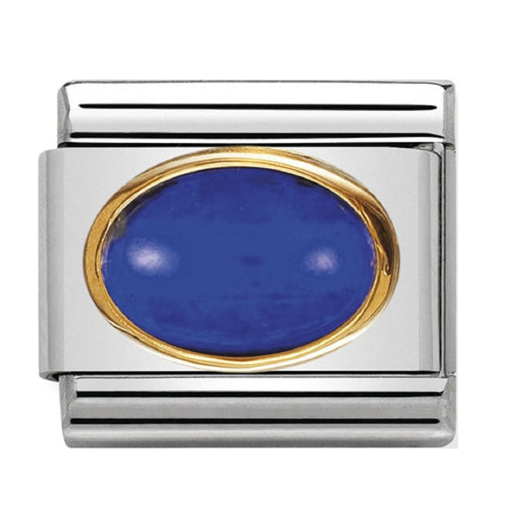 Nomination Charms Lapis Oval with Gold