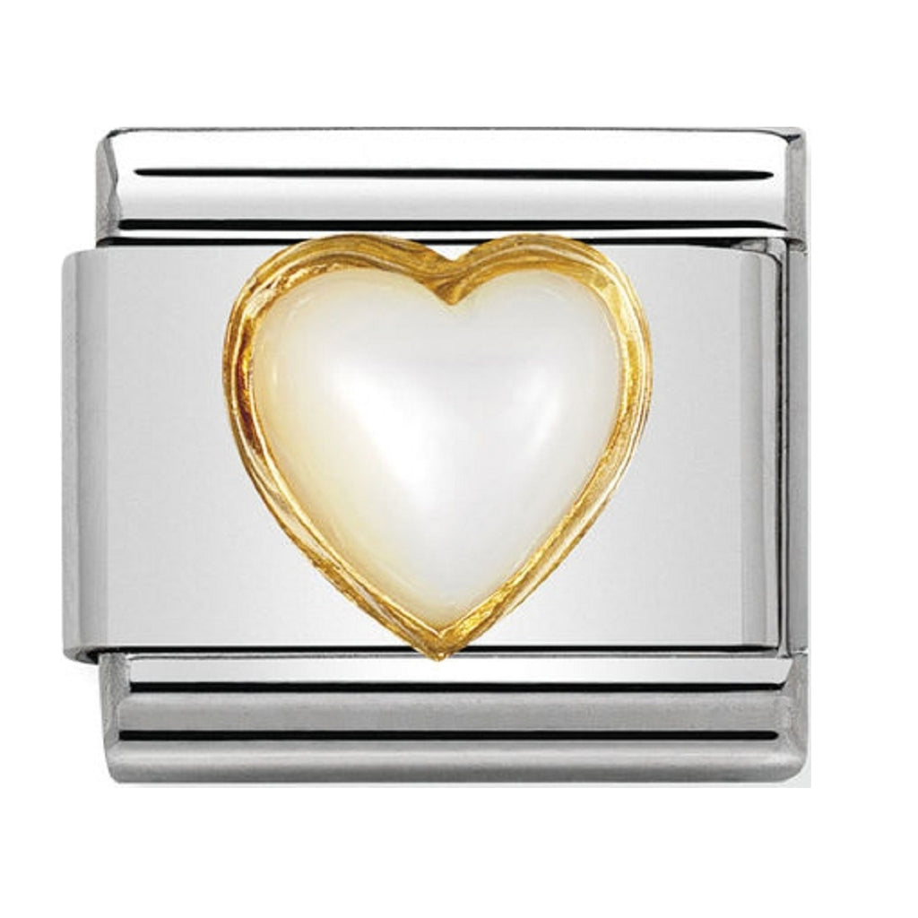 Nomination Charms Mother Of Pearl with Gold 030501-12