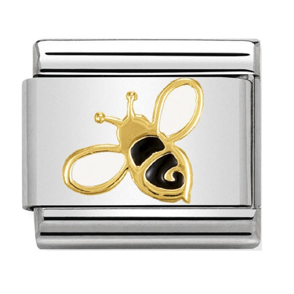 Nomination Charms 18ct and Enamel Bee