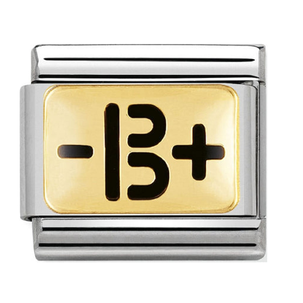 Nomination Charms 18ct and Enamel Blood Type B+