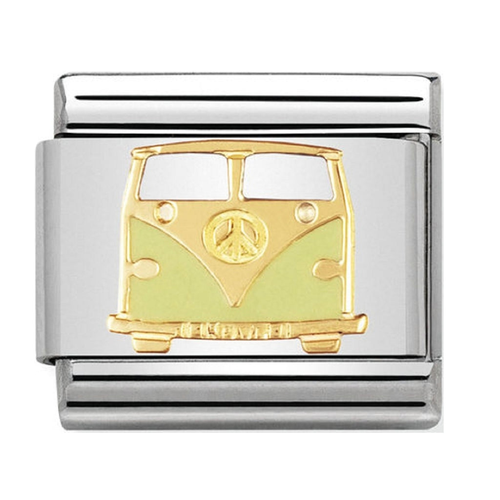 Nomination Charms 18ct and Enamel Camper Van