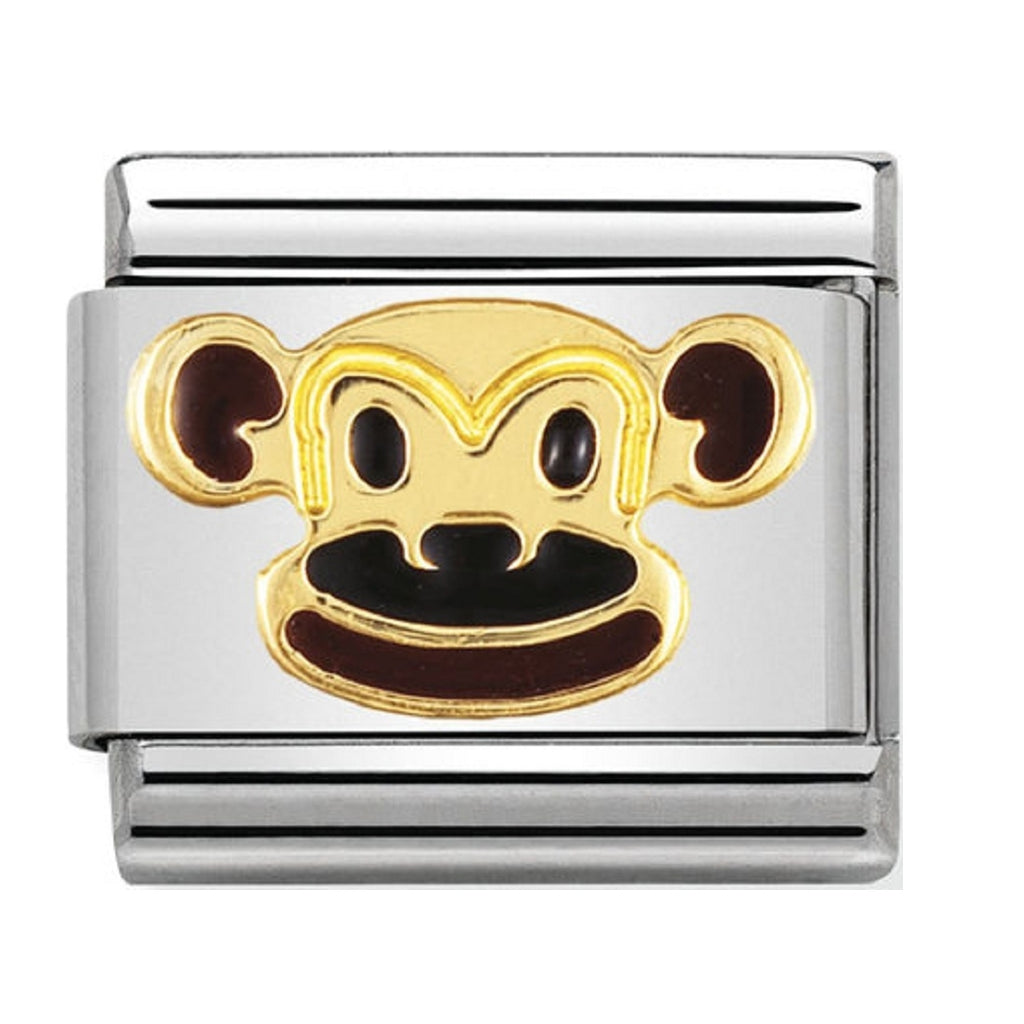 Nomination Charms 18ct and Enamel Cheeky Monkey