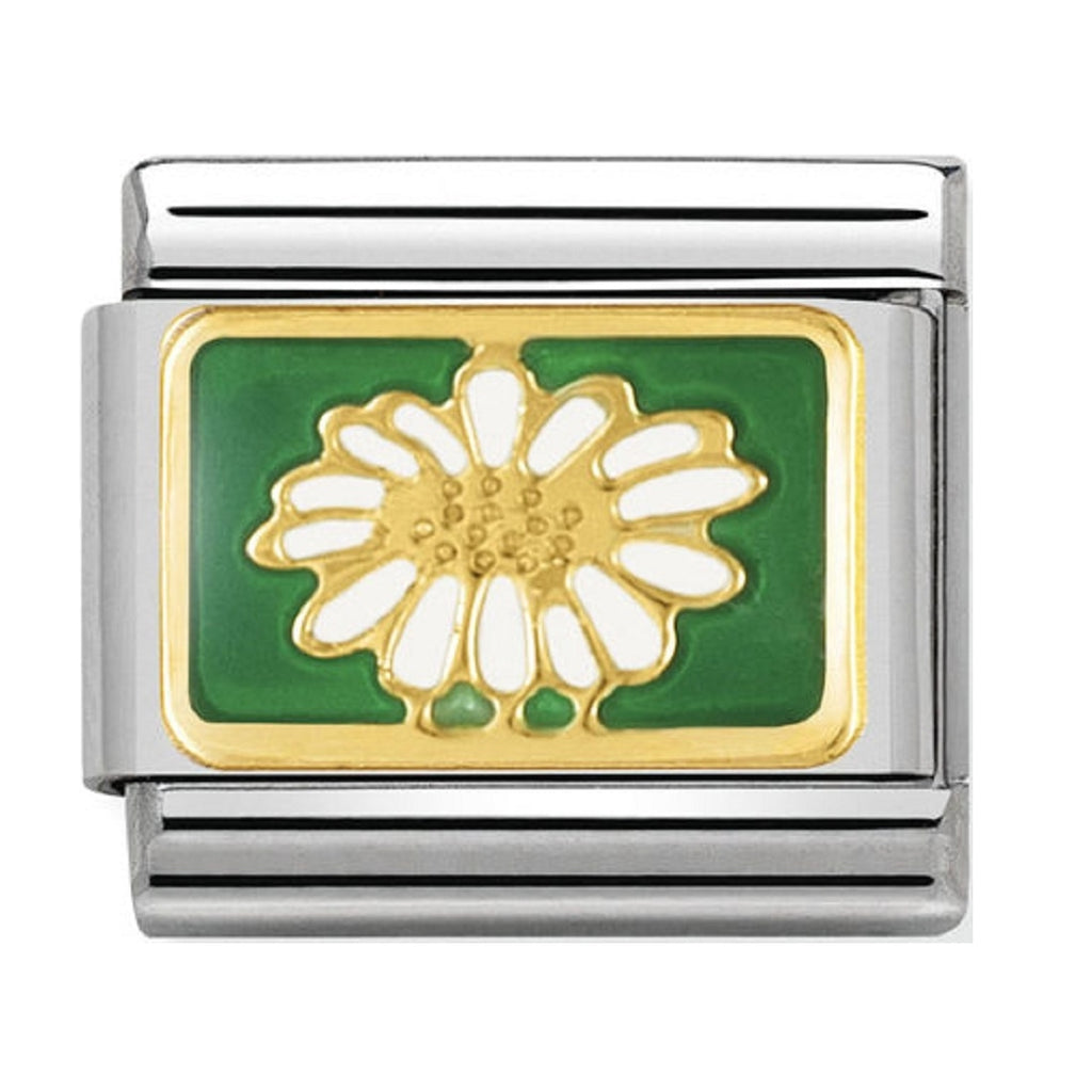 Nomination Charms 18ct and Enamel Daisy