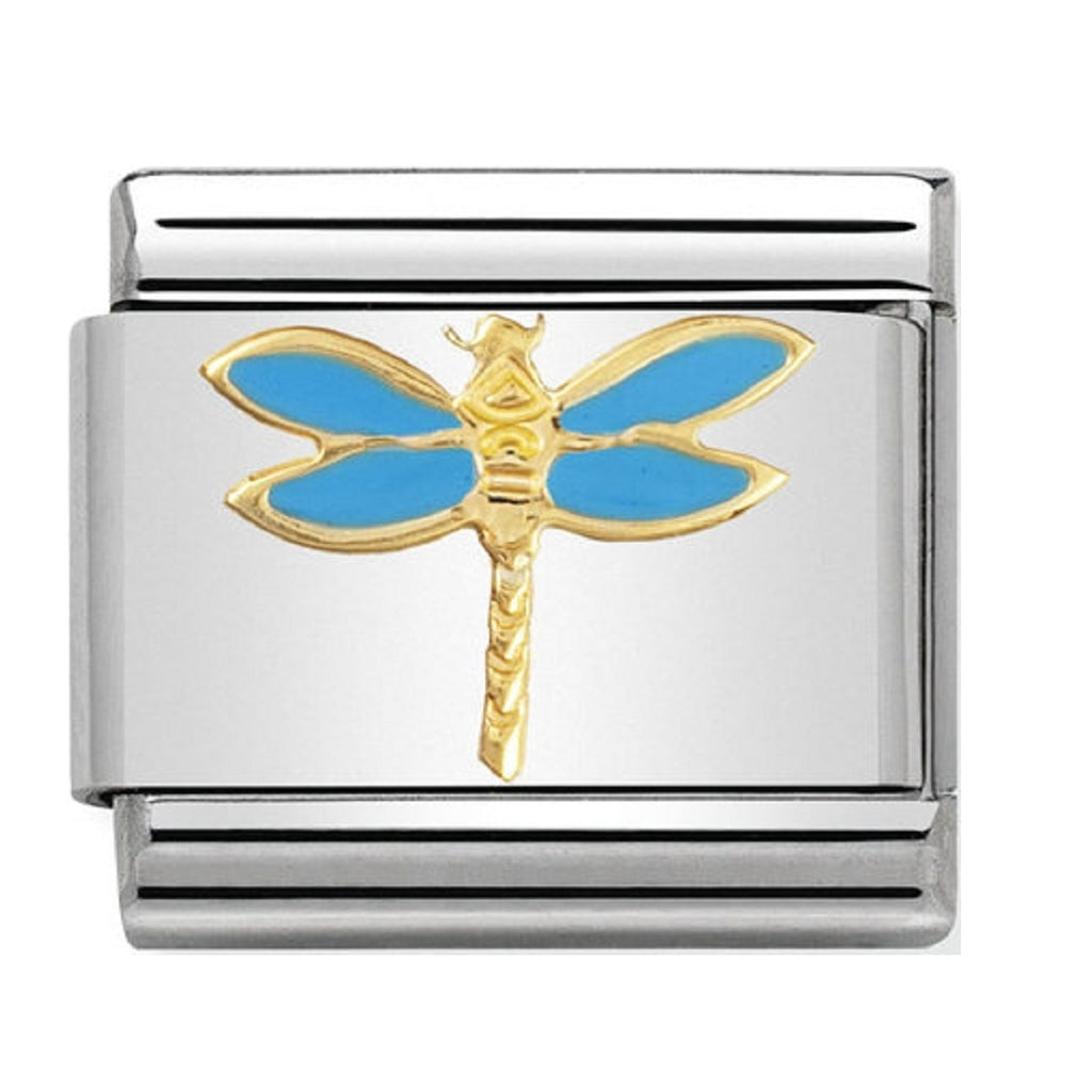 Nomination Charms 18ct and Enamel Dragon Fly