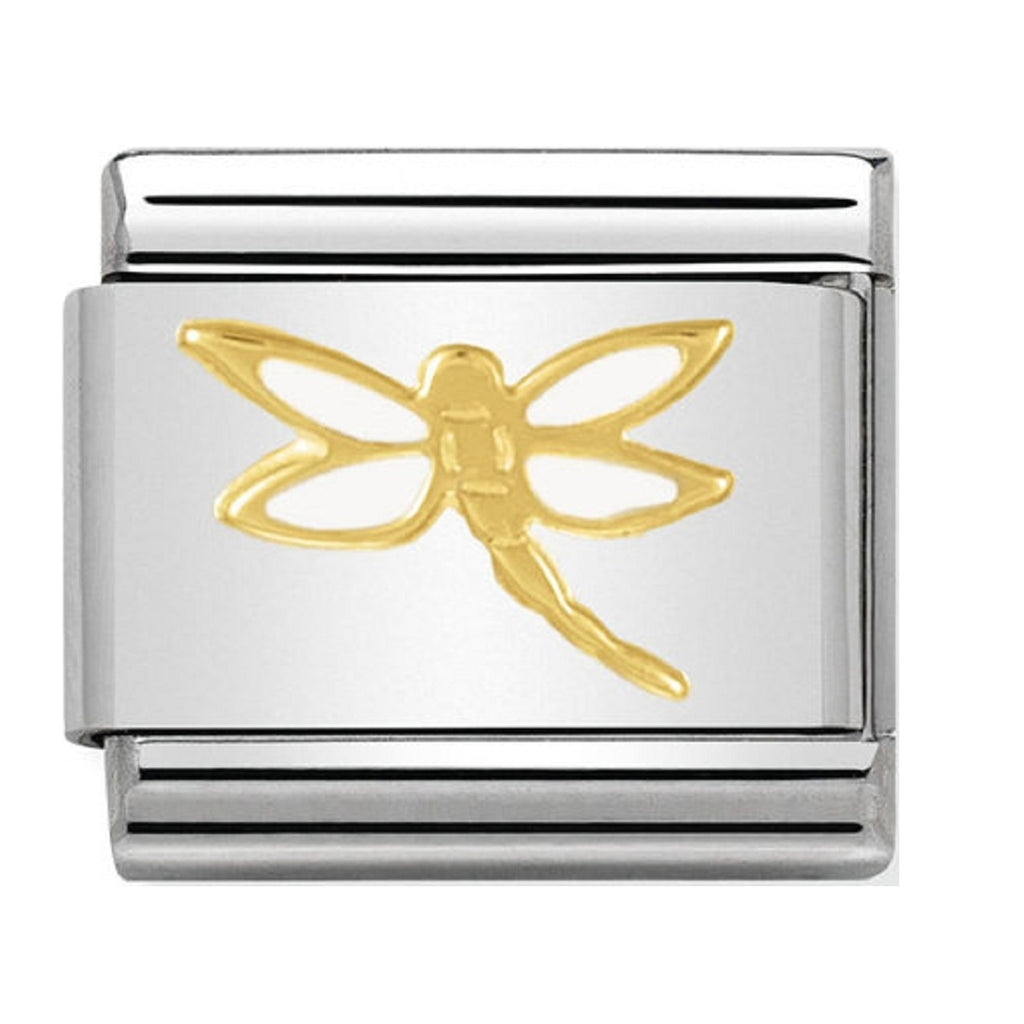 Nomination Charms 18ct and Enamel Dragonfly