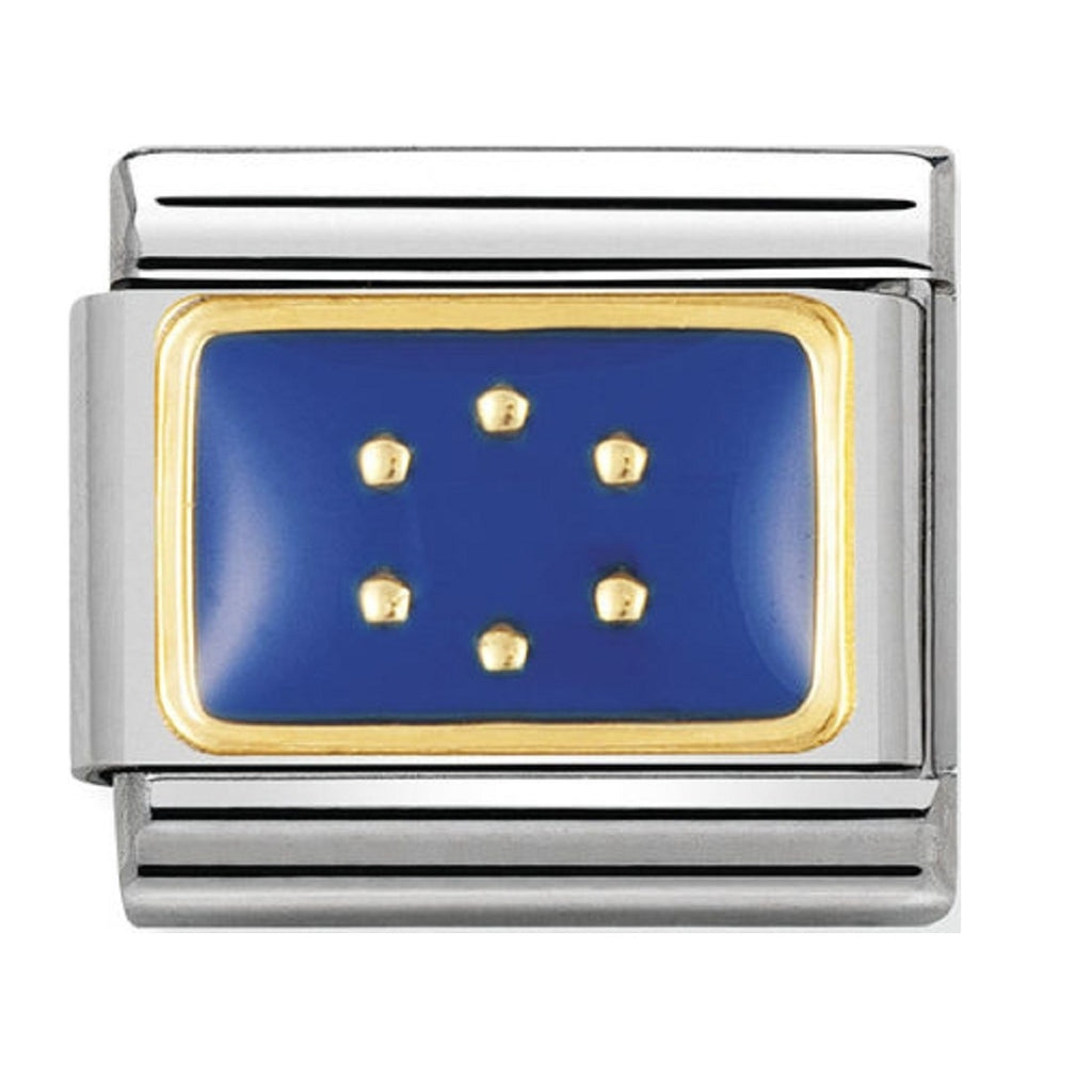 Nomination Charms 18ct and Enamel Europe Flag
