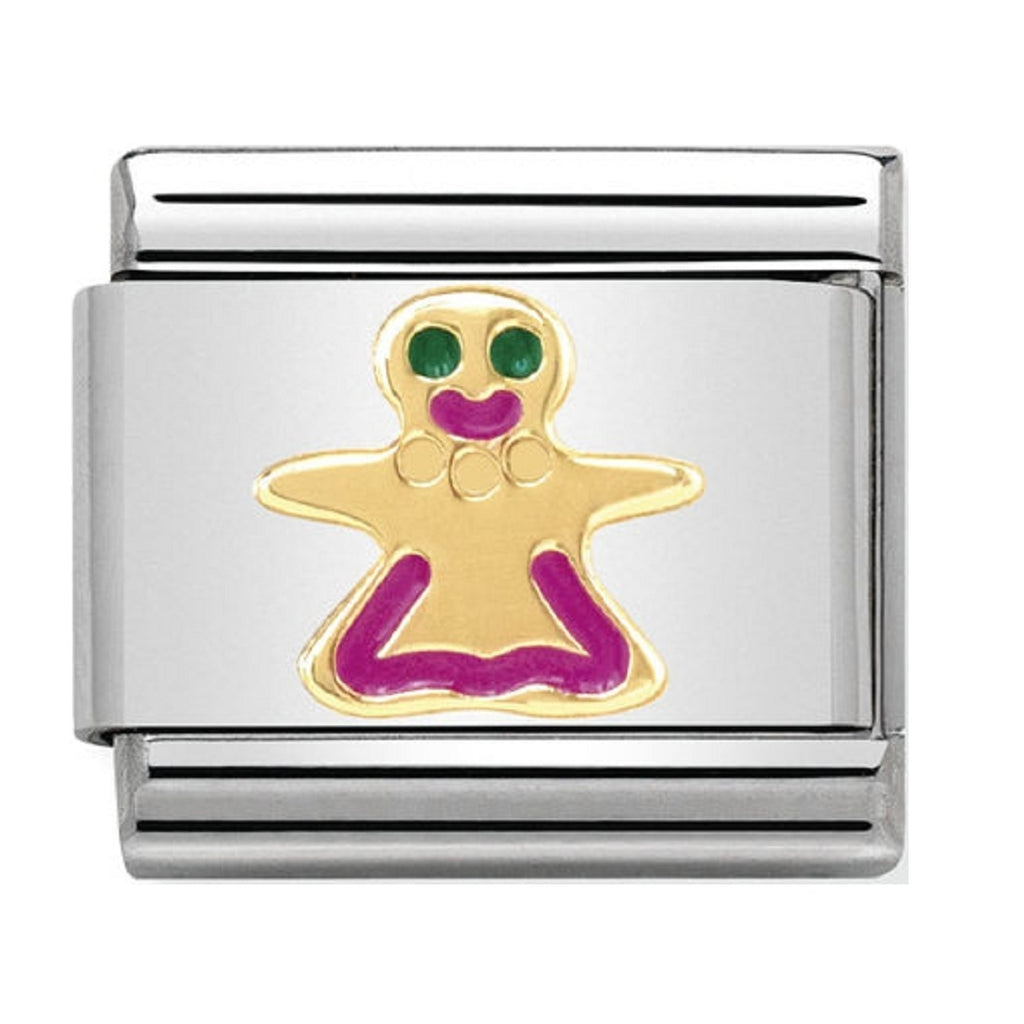 Nomination Charms 18ct and Enamel Gingerbread Lady