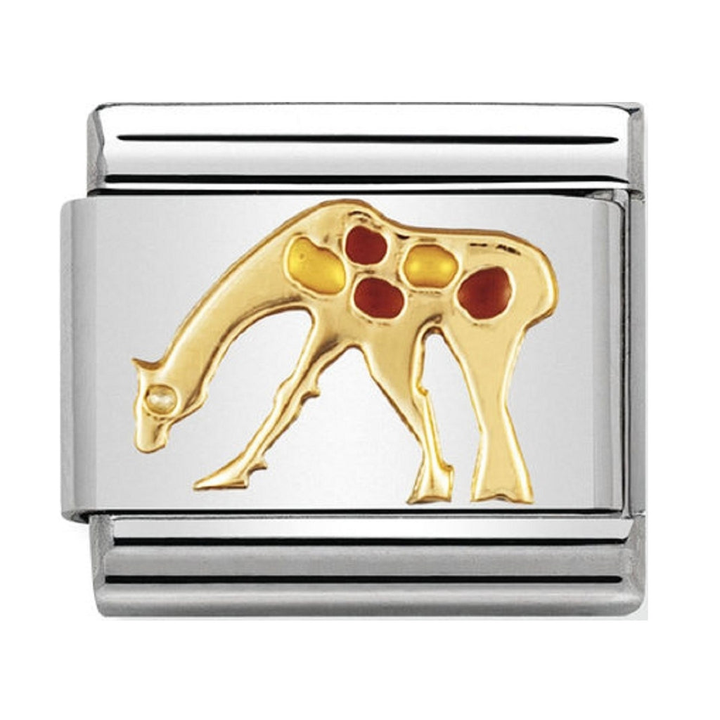 Nomination Charms 18ct and Enamel Giraffe