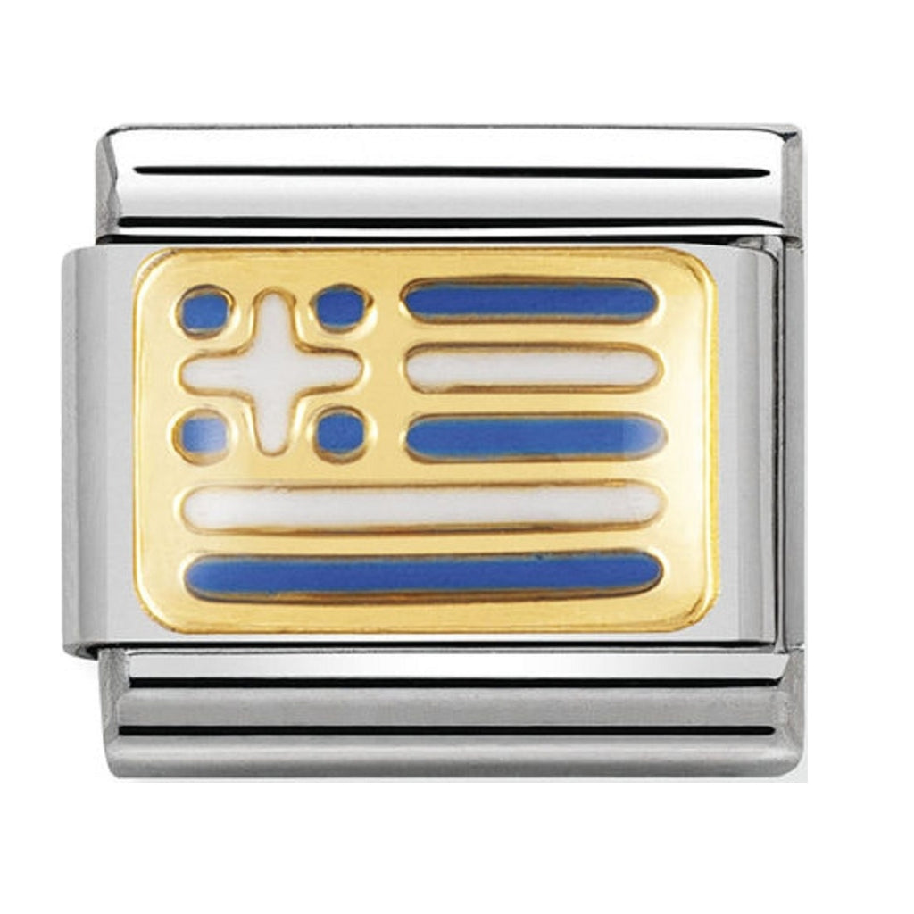 Nomination Charms 18ct and Enamel Greece Flag 030234-22