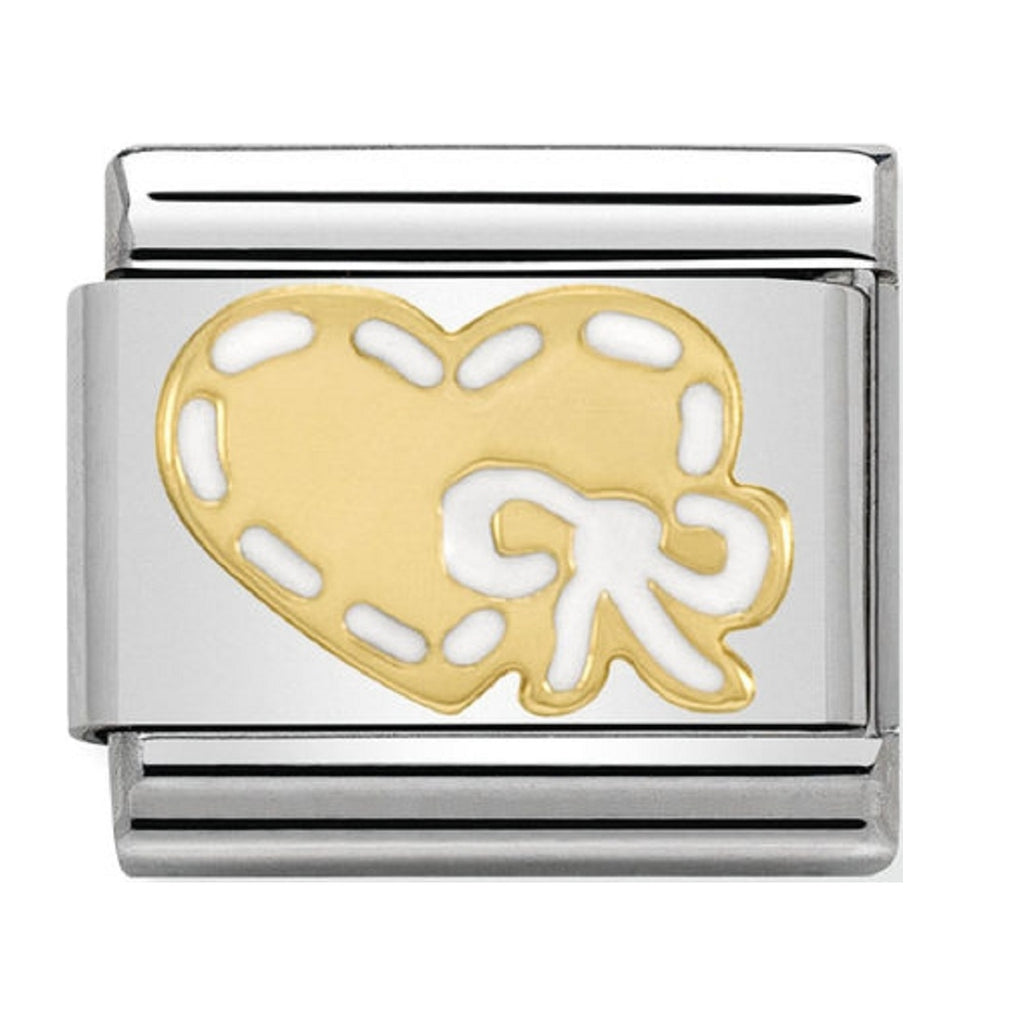 Nomination Charms 18ct and Enamel Heart with White
