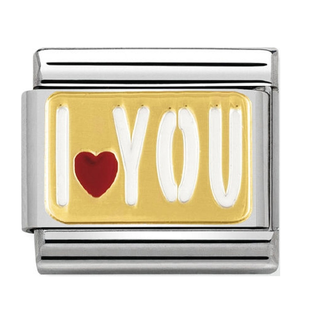 Nomination Charms 18ct and Enamel I ♥You