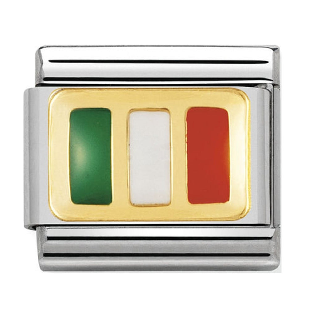 Nomination Charms 18ct and Enamel Ireland Flag