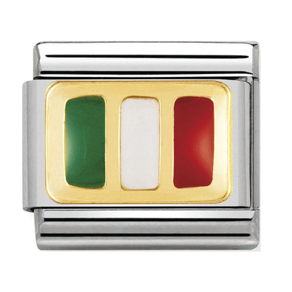 Nomination Charms 18ct and Enamel Italy Flag