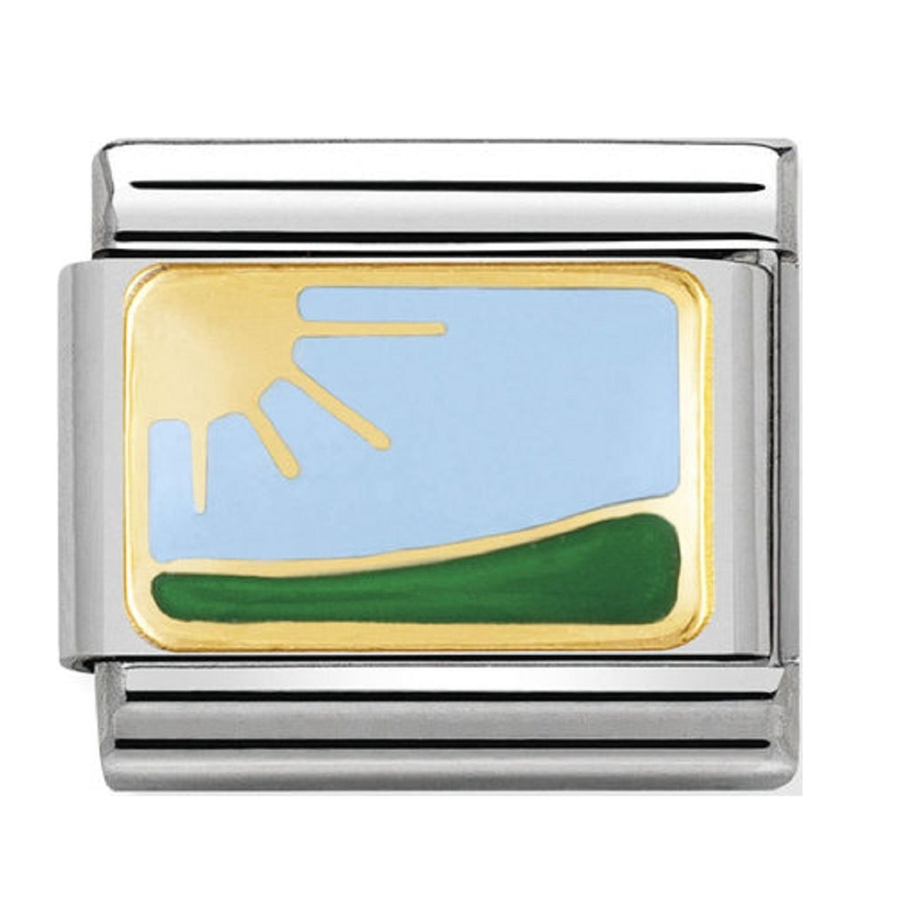 Nomination Charms 18ct and Enamel Landscape
