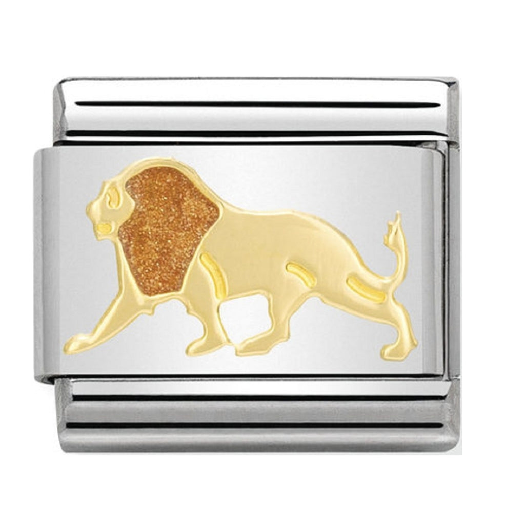 Nomination Charms 18ct and Enamel Lion