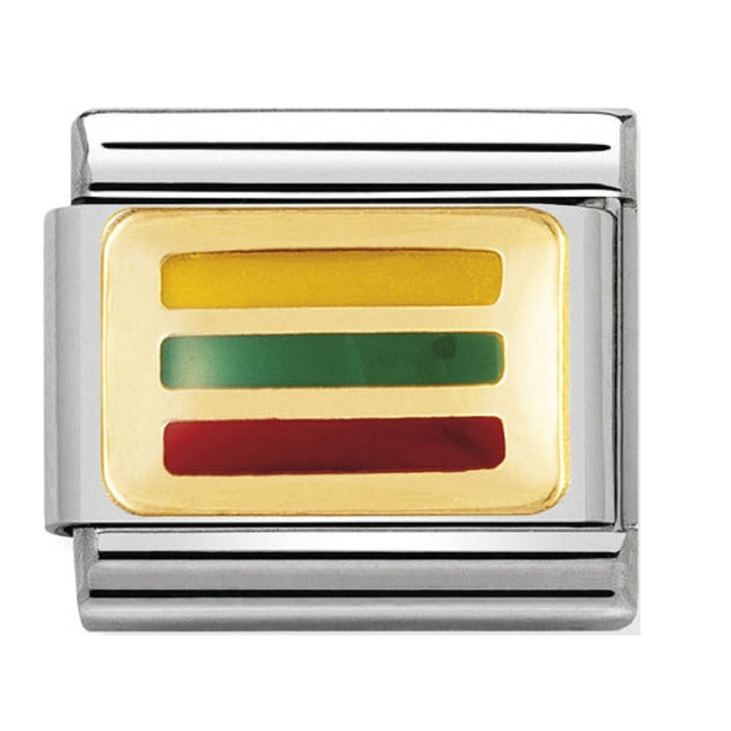 Nomination Charms 18ct and Enamel Lithuania Flag