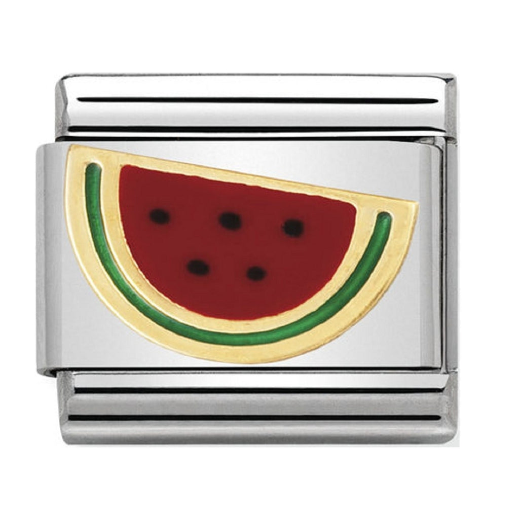 Nomination Charms 18ct and Enamel Melon Slice