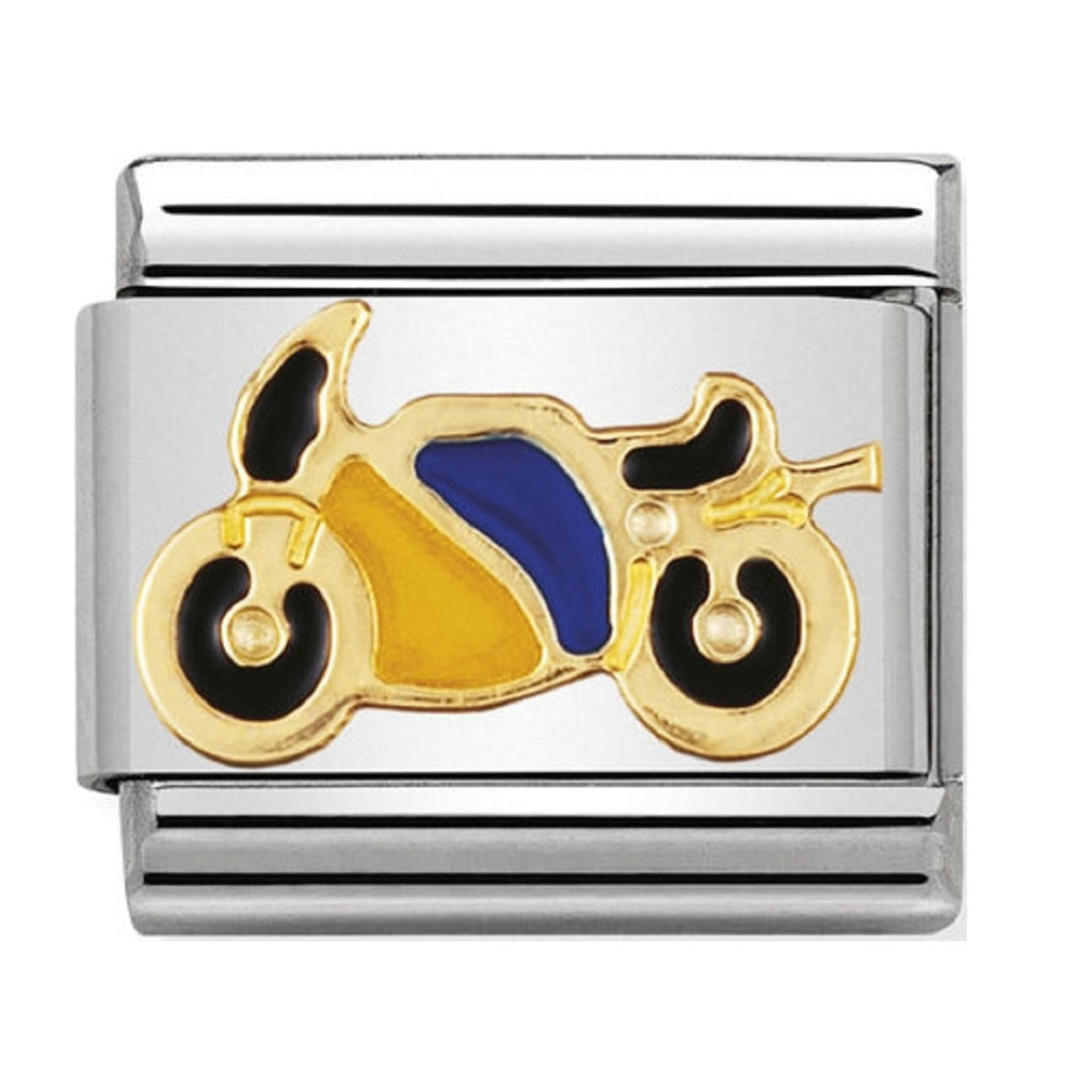 Nomination Charms 18ct and Enamel Motorbike