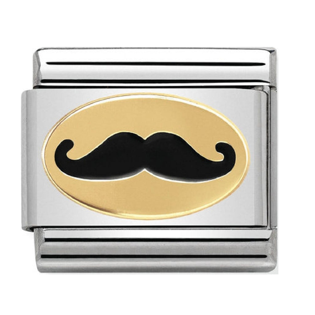 Nomination Charms 18ct and Enamel Mustache
