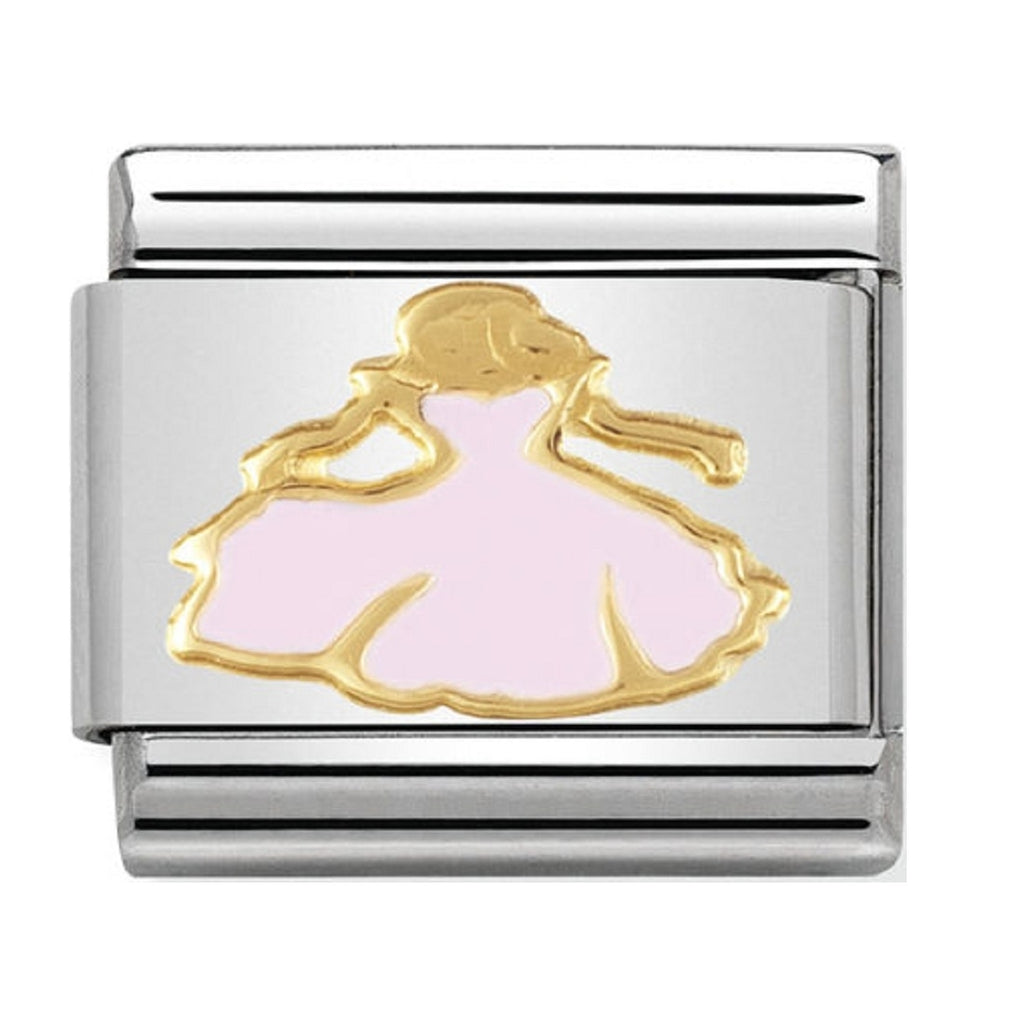 Nomination Charms 18ct and Enamel Princess