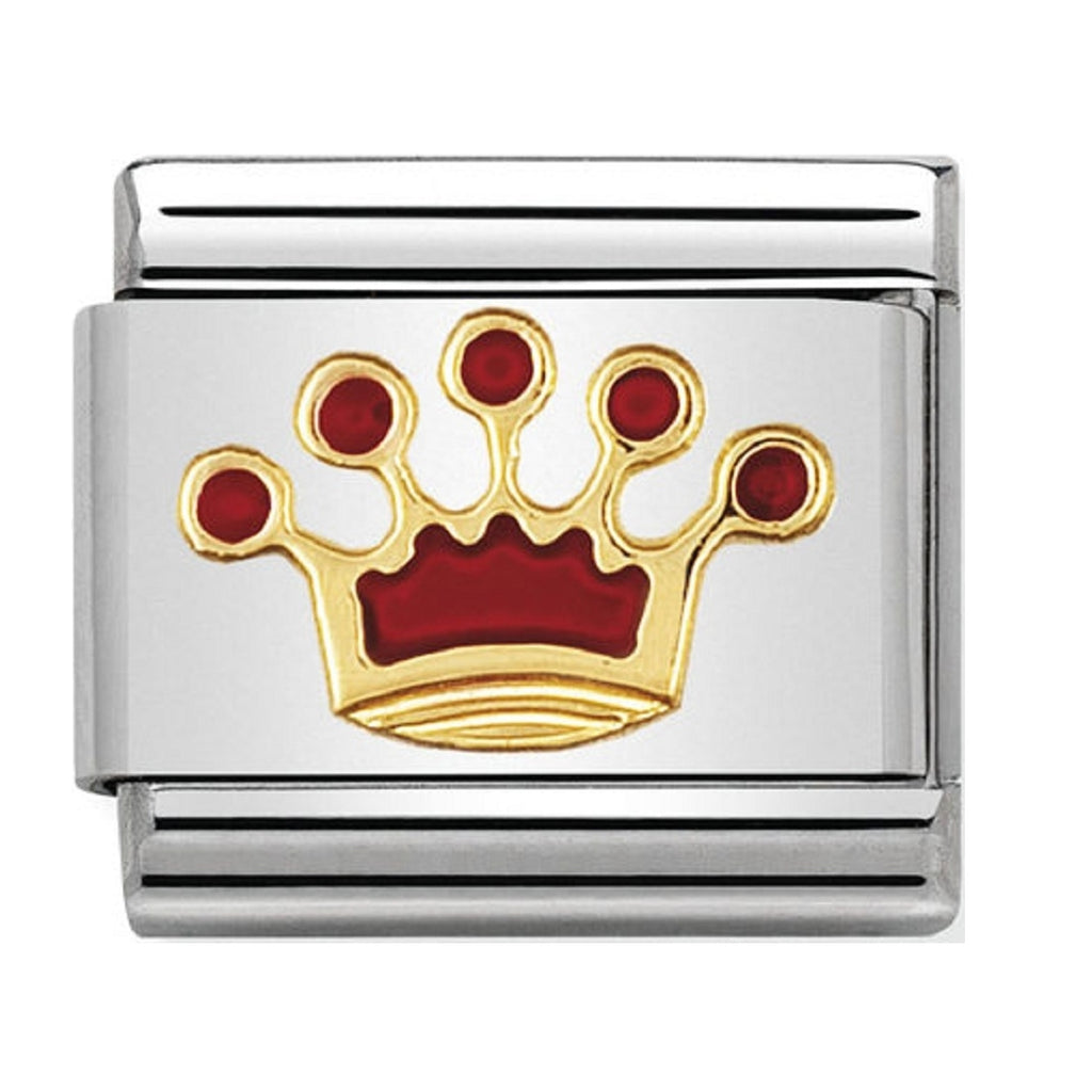 Nomination Charms 18ct and Enamel Queens Crown