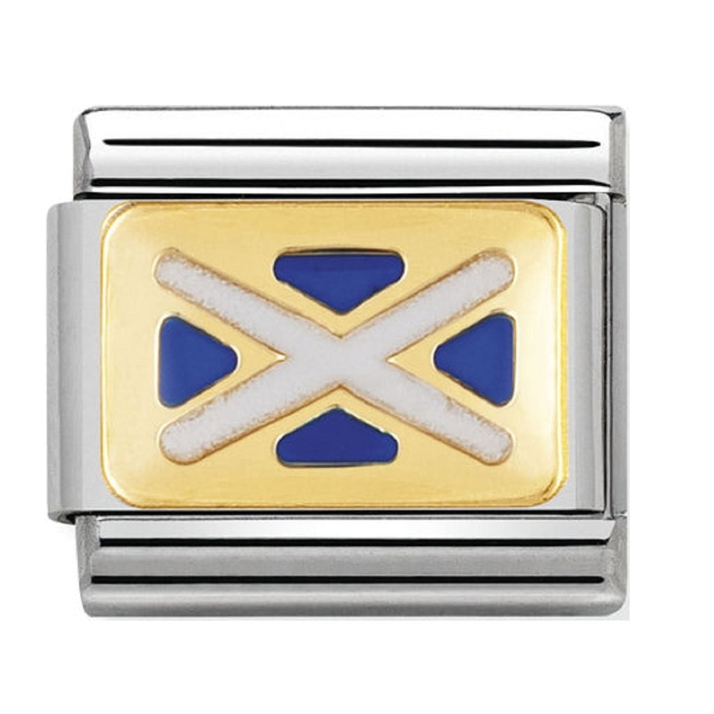 Nomination Charms 18ct and Enamel Scotland Flag