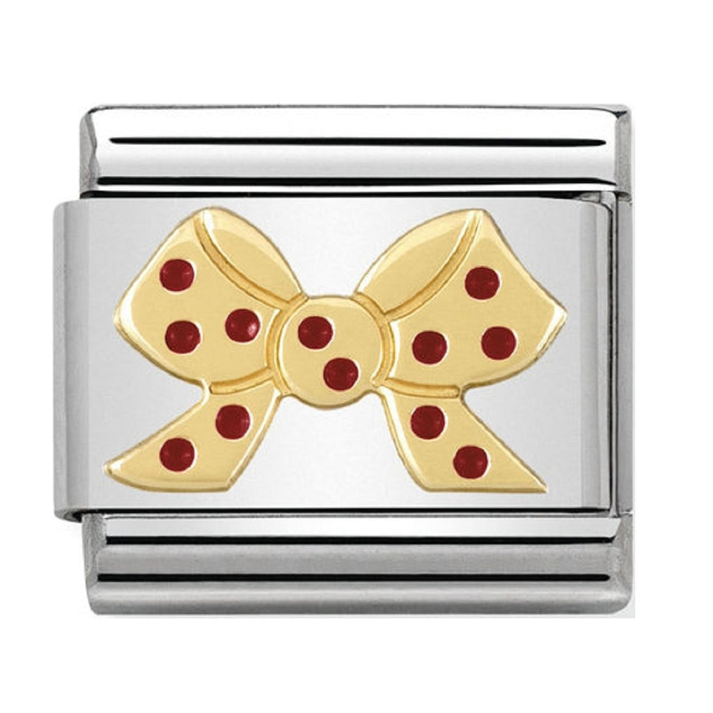 Nomination Charms 18ct and Red Enamel Bow