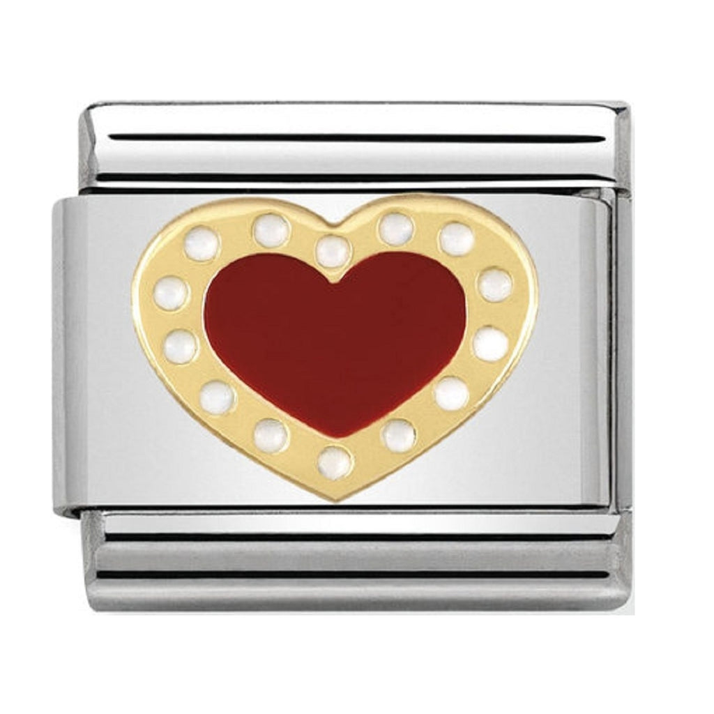 Nomination Charms 18ct and Red Enamel Heart