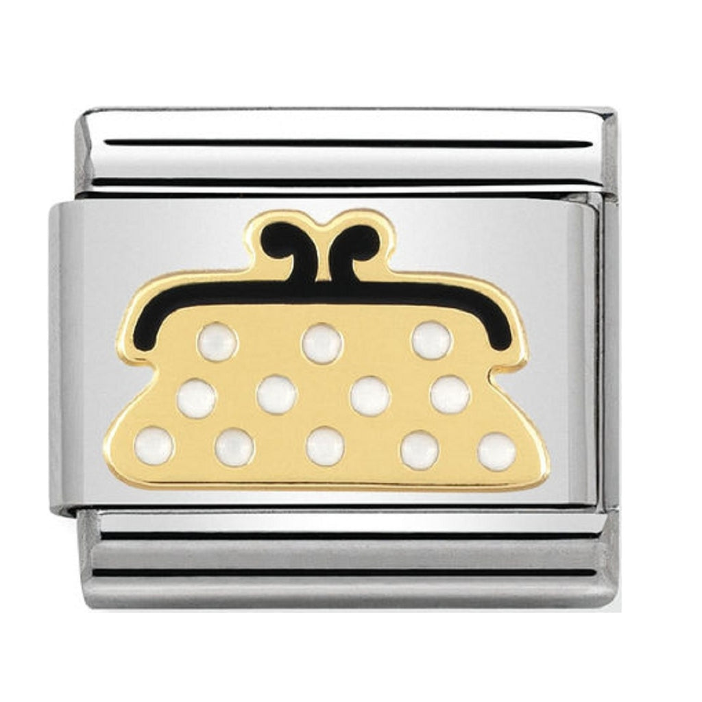 Nomination Charms 18ct and White Enamel Purse